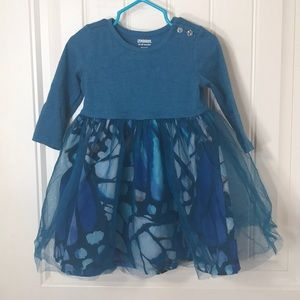 💚Gymboree Teal Butterfly A-line dress